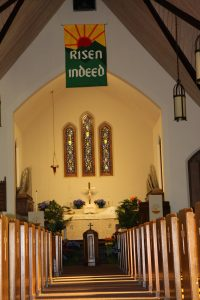 Photo of inside of church